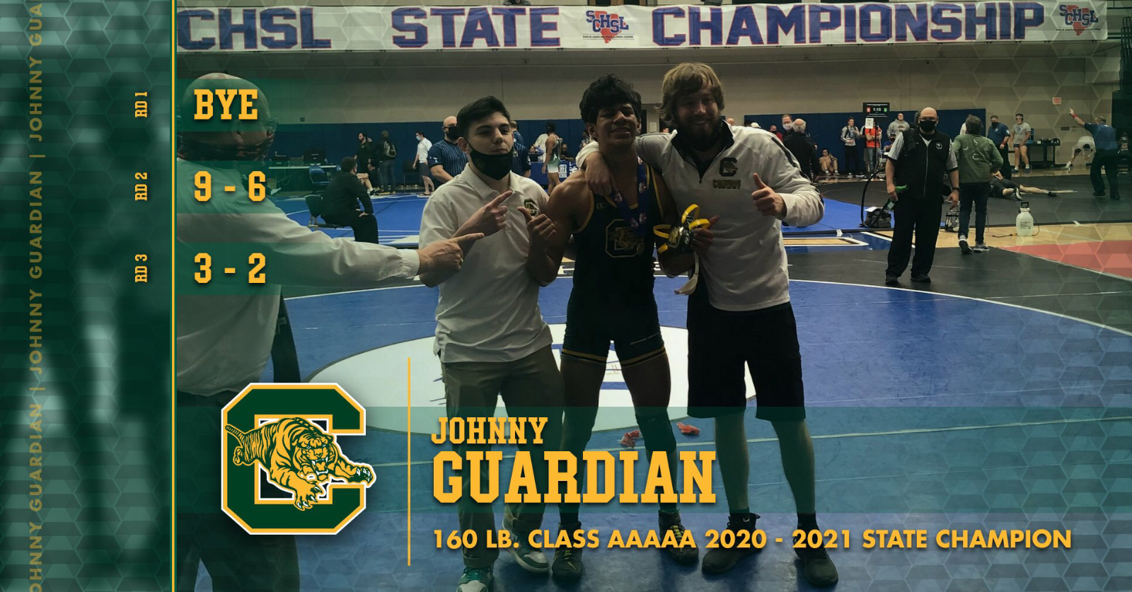 Congratulations Johnny Guardian! State Champion!