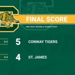 Tiger Baseball Defeats 8th ranked St James