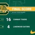 Tiger Baseball End Mingo Bay 4-0 After defeating Lakewood