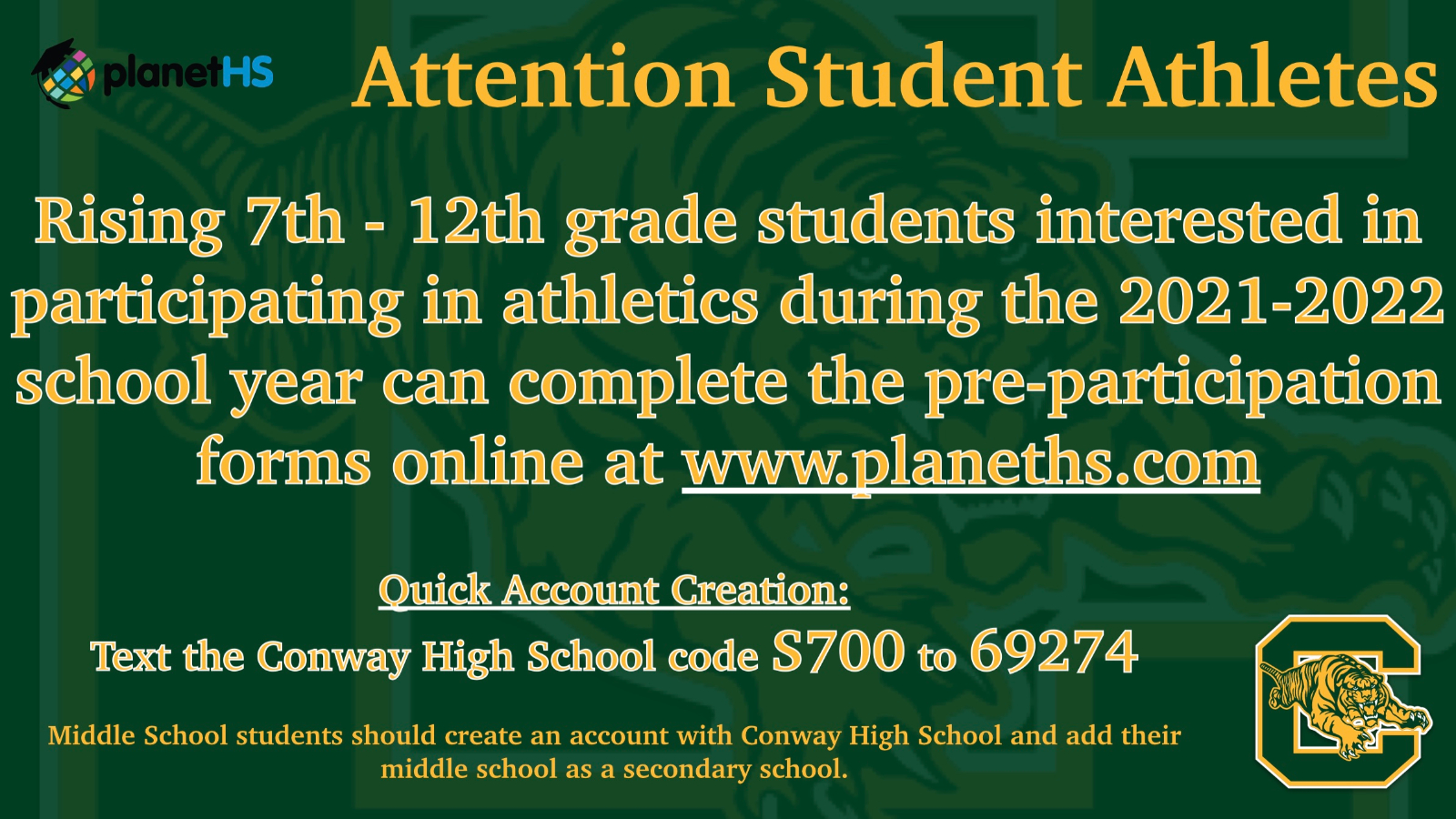 Get your physical for the 2021 – 2022 school year