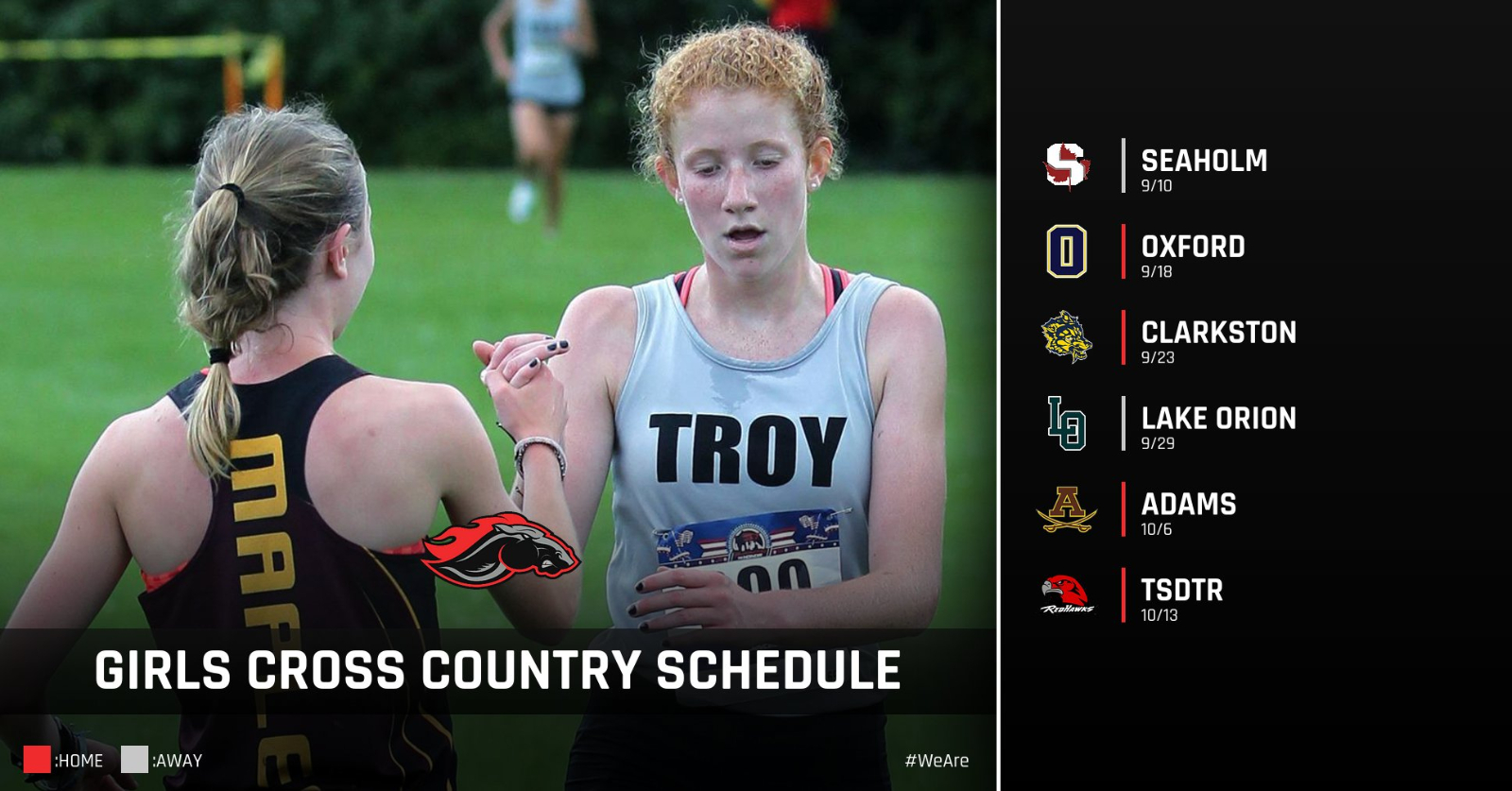 Updated 2020 Cross Country Schedules
