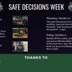 Safe Decisions Week is getting closer!