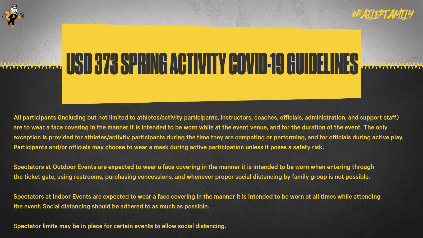 USD 373 Activity COVID-19 Guidelines