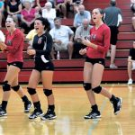 Frankenmuth High School Volleyball Varsity finishes 3rd place at Mitten Bay Classic