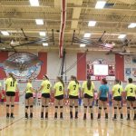 Frankenmuth High School Volleyball Varsity falls to Mt. Morris High School 1-3