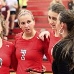 Frankenmuth High School Varsity Volleyball beat Falcons 3-0