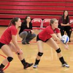 Frankenmuth High School Varsity Volleyball falls to Dukes 0-3