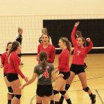 Frankenmuth High School Varsity Volleyball beat Spartans 2-0