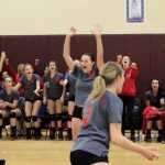 Frankenmuth High School Varsity Volleyball beat Vikings 2-1