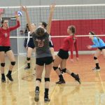 Frankenmuth High School Varsity Volleyball falls to Broncos 0-3