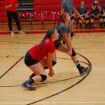 Frankenmuth High School Girls Varsity Volleyball beat St. Charles & Freeland 2-0