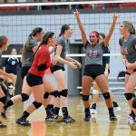 Frankenmuth High School Girls Varsity Volleyball beat North Branch High School 3-1