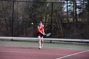 Girls Varsity Tennis, Ovid-Elsie, April 17, 2018