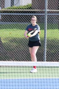 Girls Varsity Tennis, @ Alma, May 1, 2018