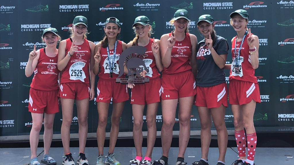 Frankenmuth Girls Cross Country MSU Invitational Champions