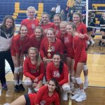 Freshman Volleyball takes first place in Birch Run Tournament