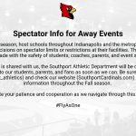 Official Statement – Spectator Info for Away Events