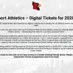 Official Statement – Digital Tickets at all Southport Home Events