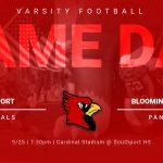 Varsity Football vs Bloomington South – 9/25