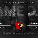 Varsity Football @ Bloomington North – 10/16