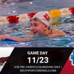 Girls+Boys Swimming vs Roncalli – 11/23