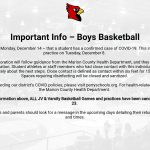 Important Information – Boys Basketball