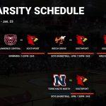 Varsity Schedule – 1/19 – 1/23