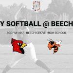 Varsity Softball @ Beech Grove – 4/7