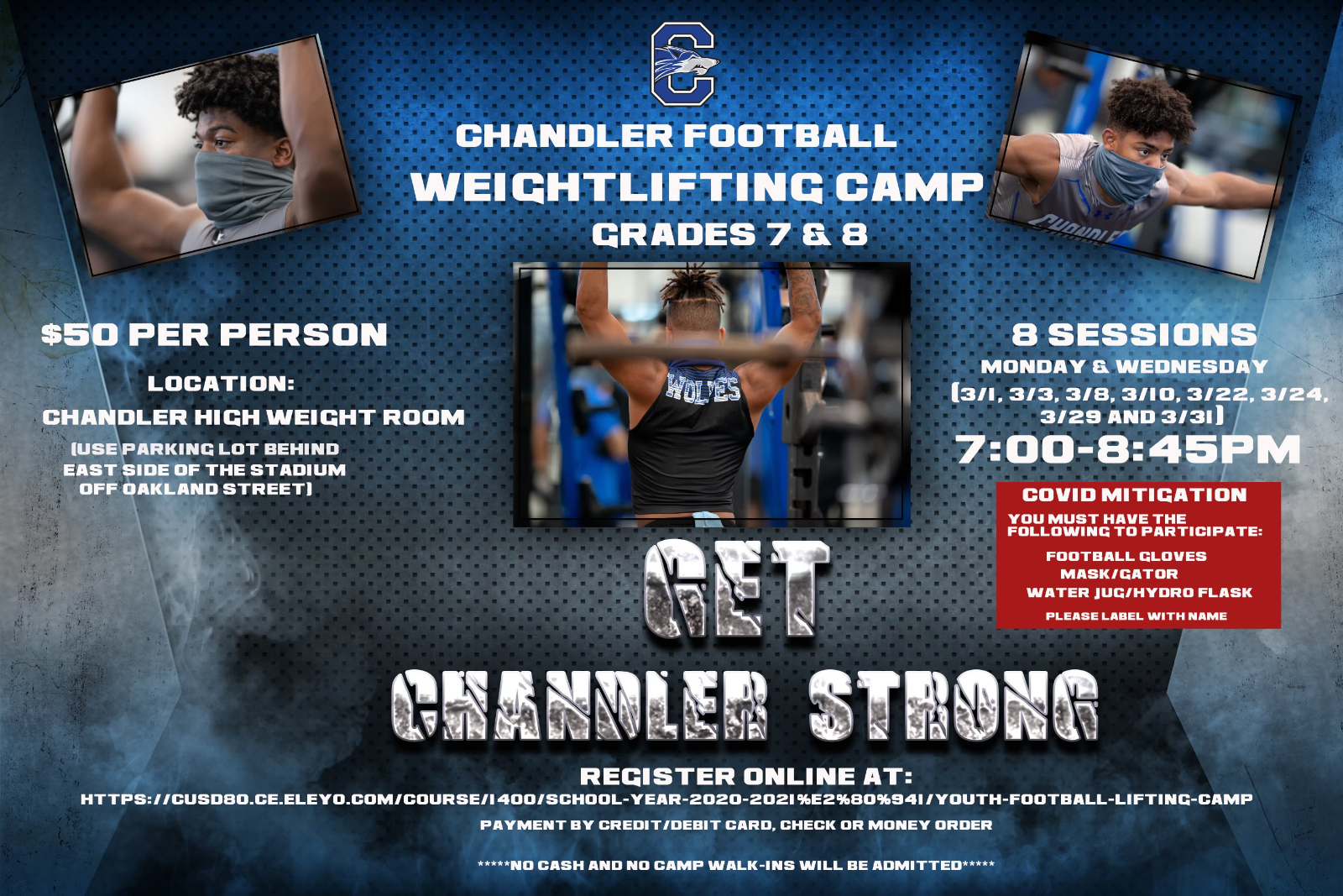 Chandler Football Weightlifting Camp