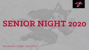 Senior Night – Red Regime – Cheer – Girl's Golf