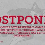 Tonight's Basketball Game vs. North Myrtle Beach – Postponed