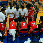 Coach Yusuf English and Cesare Edwards participate in North/South All-Star Game