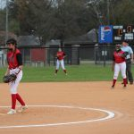 JV Softball splits double-header with Lamar