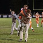 Coaches celebrating Victory over Johnstown