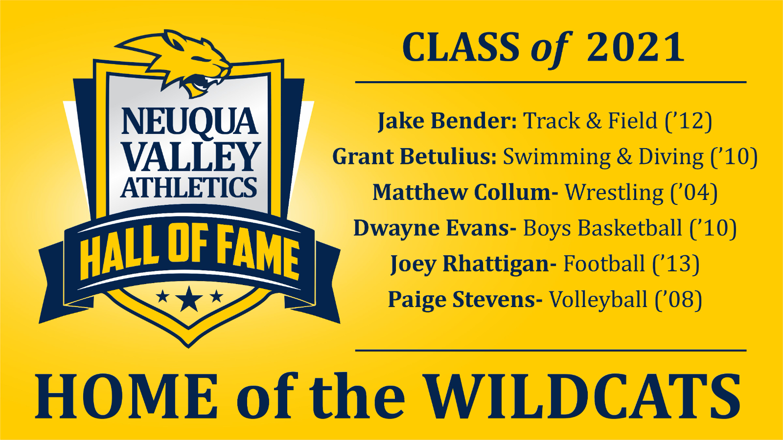 2021 Neuqua Valley Athletic Hall of Fame Class