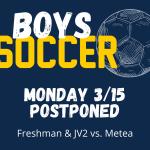 Boys Soccer – POSTPONED