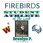 Firebirds Student-Athlete of the Week October 12th 2020
