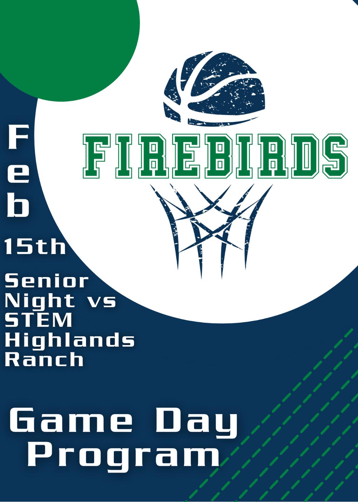 Boys Basketball Senior Night Game Day Program 2/15/21