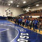 Varsity Wrestling beats Union City 74 – 3 on Senior Night