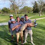 Boys Varsity Golf battles the high winds at Topeka West Invitational
