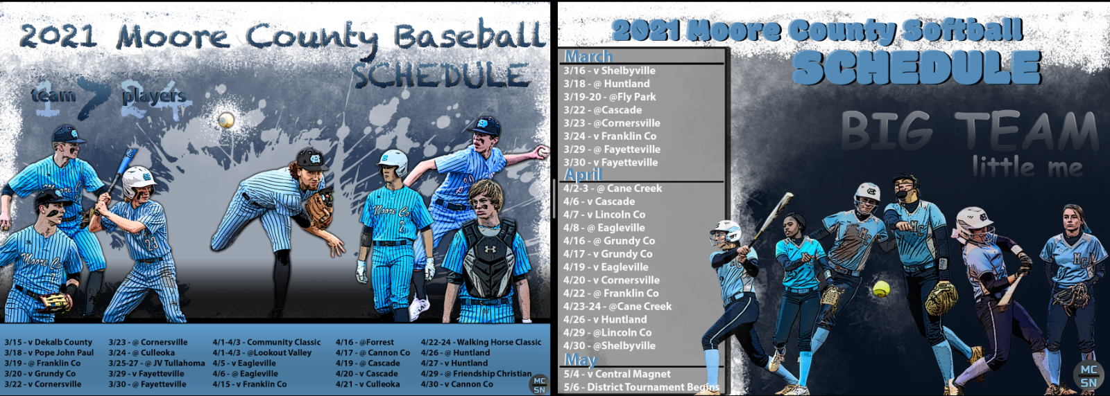 2021 Moore County High School Baseball Schedule