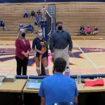 Olathe East honors Volleyball Seniors