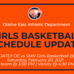 Girls Basketball Games vs SMN rescheduled to Saturday, February 20 (C-team and Varsity only)