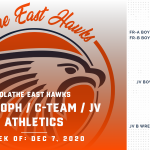 OE Sub-Varsity Athletics Schedule for this Week – Week of December 7, 2020