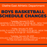 Boys Basketball Schedule Changes for SMW and OS Games