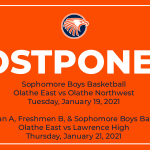 Boys Basketball schedule changes impacting Freshmen and Sophomore games this week