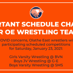 Important Wrestling Schedule Changes for Saturday, January 23, 2021