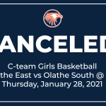 OE C-team Girls Basketball vs Olathe South Canceled for Jan 28, 2021