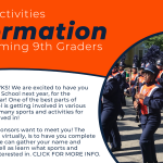 Sports/Activities Information for Incoming 9th Graders