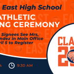 OE Athletic Signing Ceremony Scheduled for April 14! Senior Signees Register in the Main Office!